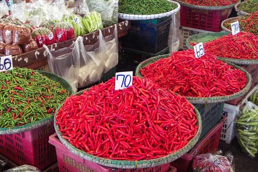 Gemüse und Fruchtmarkt